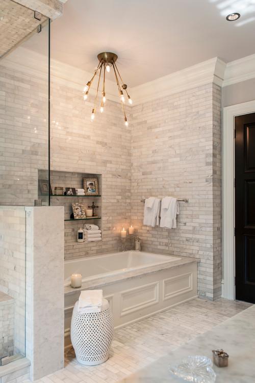 Ανακαίνιση μπάνιου λευκά χρώματα