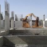 Κατασκευή Πολυκατοικίας: Μπάζωμα θεμελίωσης
