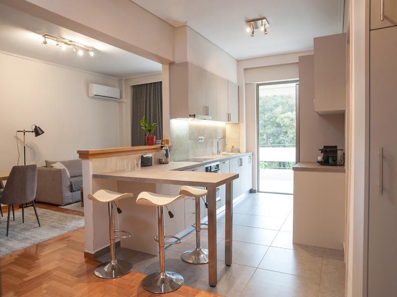 Ανακαίνιση σπιτιού 85τμ στο χολαργό - νέα κουζίνα
